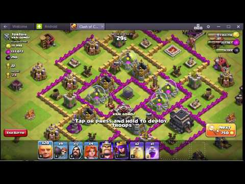 how to attack using bluestacks much easier clash of clans