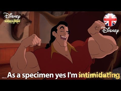 DISNEY SING-ALONGS | Gaston - Beauty And The Beast Lyric Video | Official Disney UK