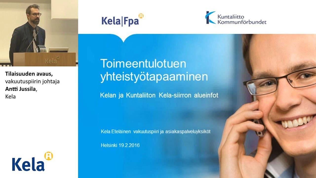 Tilaisuuden avaus, vakuutuspiirin johtaja Antti Jussila, Kela - YouTube