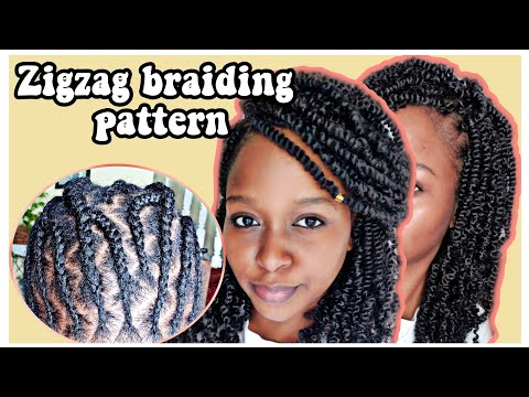I Tried BeautyCanBraid's Zigzag Braiding Pattern | Spring Twists - Crochet Braids