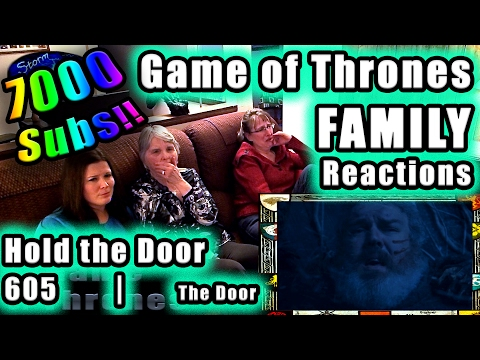 Game of Thrones FAMILY Reactions 7000 SUBS CELEBRATION | The DOOR | HOLD the DOOR