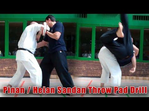 Practical Kata Bunkai: Pinan / Heian Sandan Throw in Pad Drill