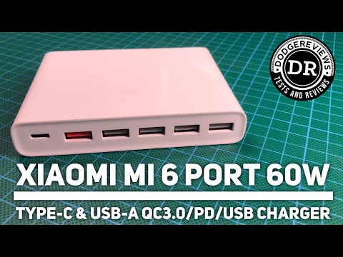 Xiaomi Mi CDQ06ZM 6 port 60W Type-C & USB-A QC3.0/PD/USB charger tested