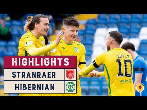 Stranraer Hibernian Goals And Highlights