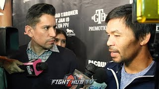 "MANNY PACQUIAO TO MAYWEATHER  ""COME BACK AND LETS FACE EACH OTHER IN THE RING!"""