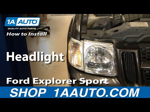 How to Replace Headlight 01-05 Ford Explorer Sport Trac