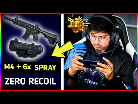 HOW TO SPRAY WITH M416+6X  ZERO RECOIL CONTROLLING | EVERY CONQUEROR PLAYER USE THIS AMAZING TRICK