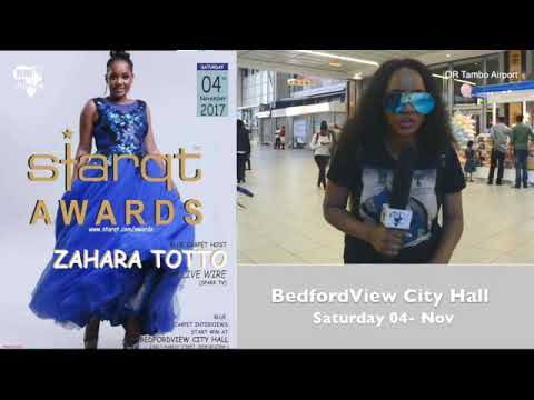 Zahara Totto ( LIVE WIRE) arrived in South Africa To Host Annual Starqt Awards 2017