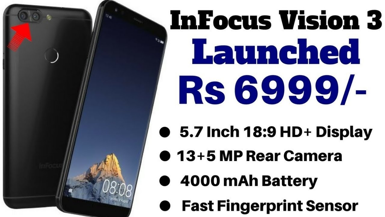competitive price 57079 2f15f InFocus Vision 3 With 18:9 Display, Dual Rear Camera Launched At Rs 6999 On  Amazon Exclusive