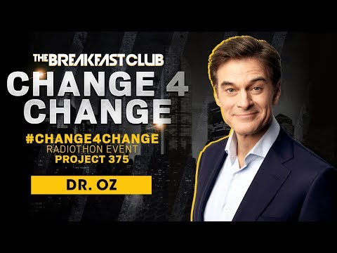 Breakfast Club Interviews - Dr. Oz Drops Advice and Supports #Change4Change Radiothon on Mental Health