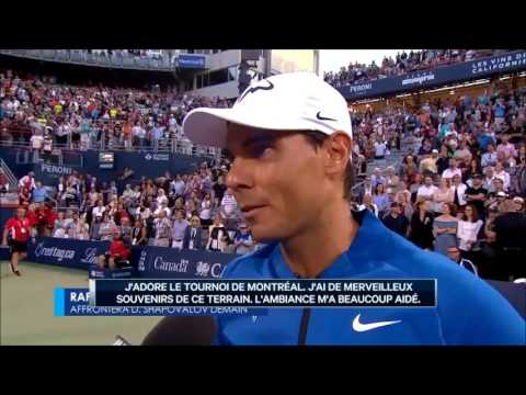 Rafael Nadal On-court Interview / R2 Montreal 2017