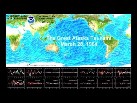 Alaska Tsunami, March 28, 1964 (with model validation)