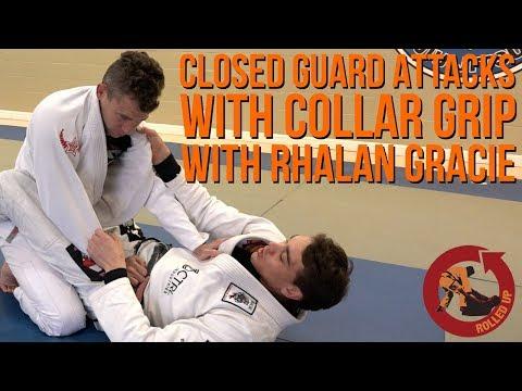 Closed guard attacks with collar grip - Bonus Technique 2 Rhalan Gracie