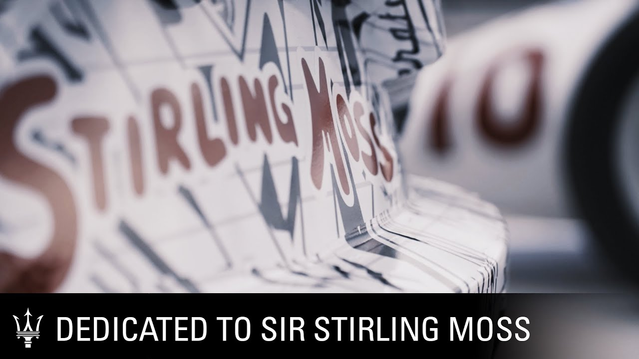 Maserati MC20 prototype, our tribute to Sir Stirling Moss