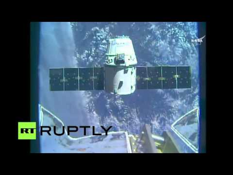 LIVE: Dragon cargo ship arrives at ISS