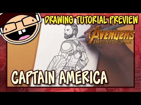 [PREVIEW] How to Draw CAPTAIN AMERICA (Avengers: Infinity War) | Drawing Tutorial Time Lapse