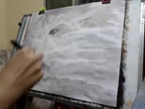Portraits Painting Hyper Art Modern