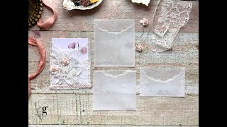 Vellum Pockets Tutorial   Dainty Embellishments for Journals and Cards