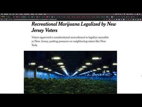 Marijuana Is Now Legal In NJ