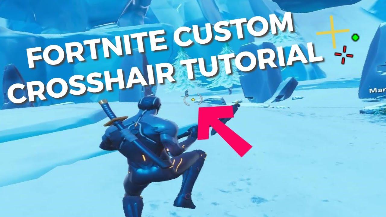 Fortnite: Custom Crosshair Guide! Season 8 (Stretched & Fullscreen)