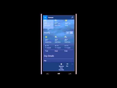 Windows 10 Mobile - MSN Weather