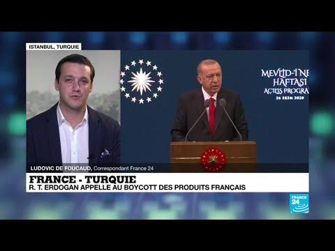 France - Turquie : Recep Tayyip Erdogan appelle au boycott des produits français en Turquie