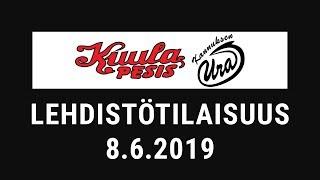 Lehdistötilaisuus: Kuula - Ura 8.6.2019