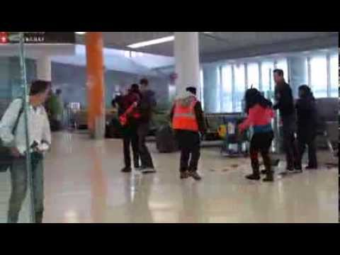 Philadelphia City workers fighting at the airport
