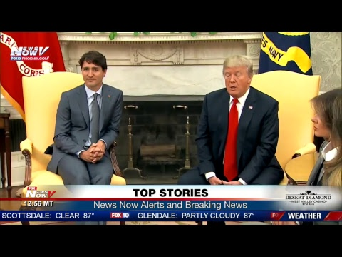 FNN: President Trump welcomes Justin Trudeau to White House, tax reform rally push