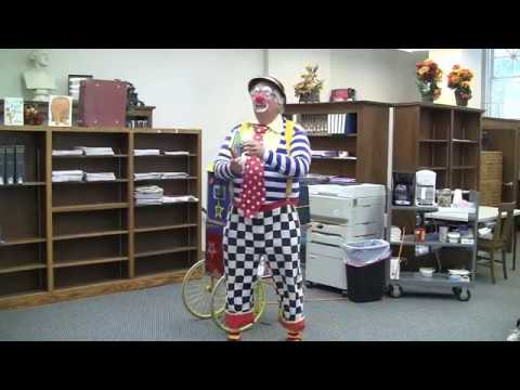 ROSCO THE CLOWN  AT ARMADA FREE PUBLIC LIBRARY (MAY 10, 2012)