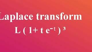 Laplace Transform Using Shifting Property L ( 1 T E∧-t)³
