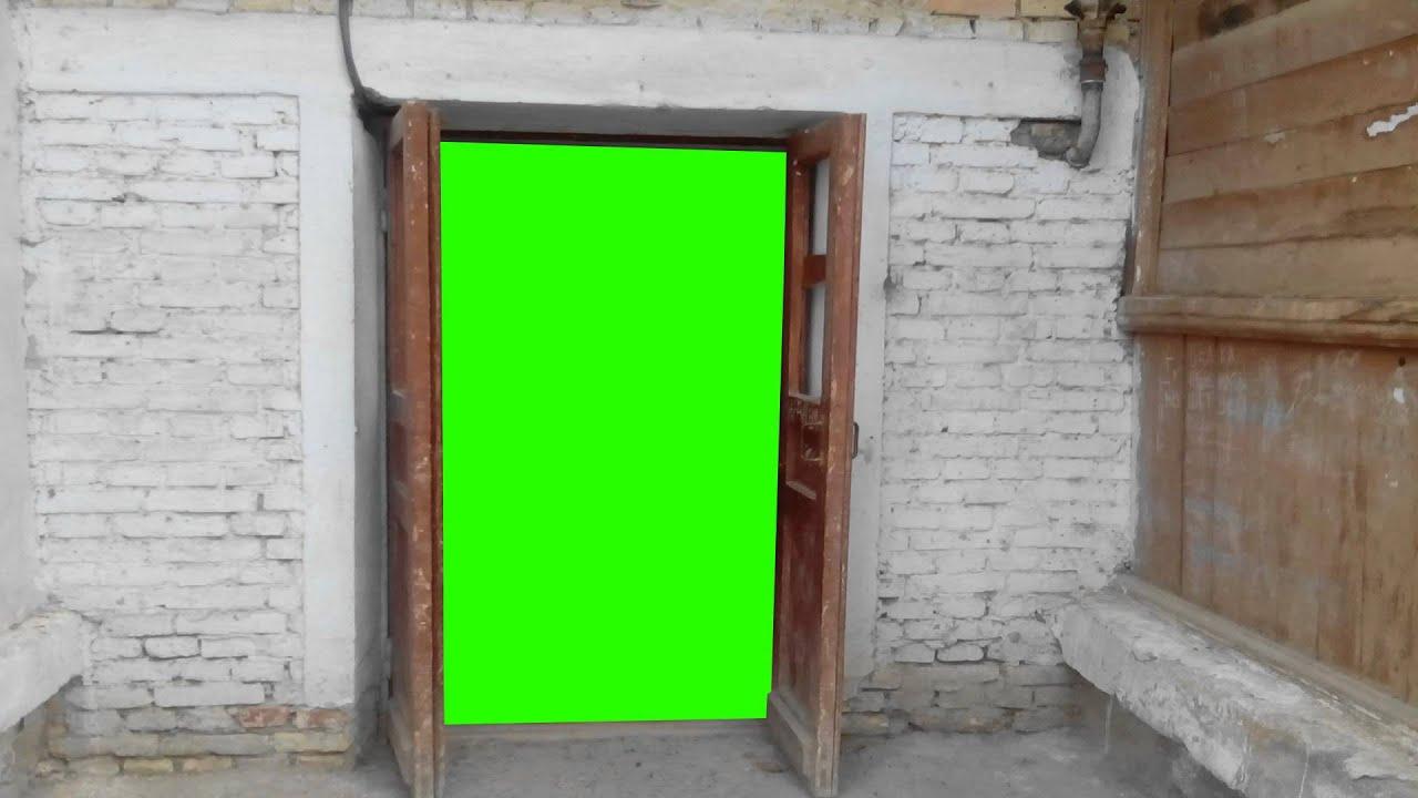 Door In Green Screen Free Stock Footage Youtube