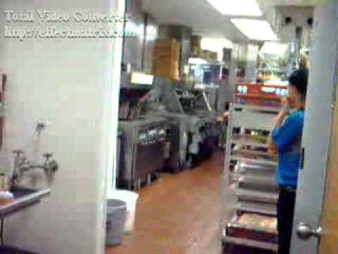 McDonalds with Slippery Kitchen Floors
