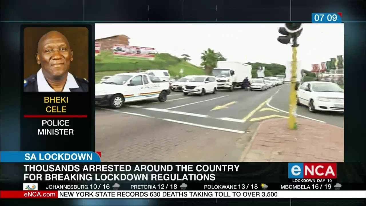 Police Minister Bheki Cele is appealing to communities to comply - eNCA