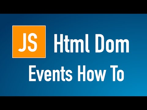 Learn JS HTML Dom In Arabic #33 - Events - How To Write All Methods