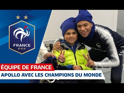 Apollo avec les Champions du Monde, Equipe de France I FFF 2018