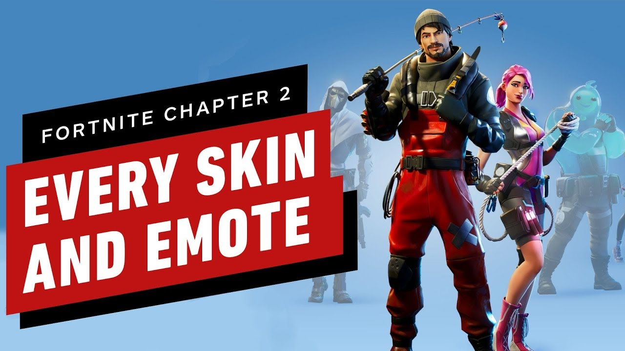 Fortnite Chapter 2 Every Character Skin Weapon And Emote In Season 1
