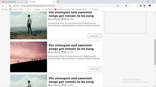 Few design tweaks on the website |  Designing a Blog website HTML and CSS #5
