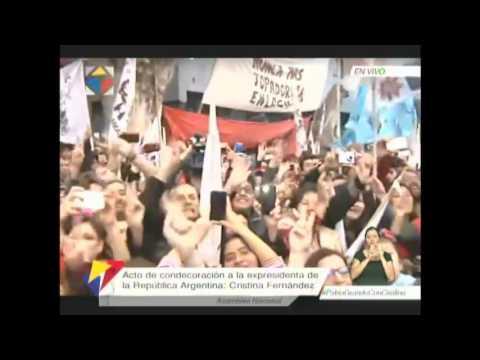 Acto de condecoración a la ex presidenta de la República Argentina, Cristina Fernández de Kirchner