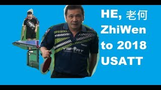 Table tennis legend HE Zhiwen to New York Jan 2018 Open