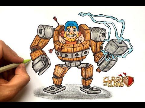 DRAW BATTLE MACHINE !! CLASH OF CLANS
