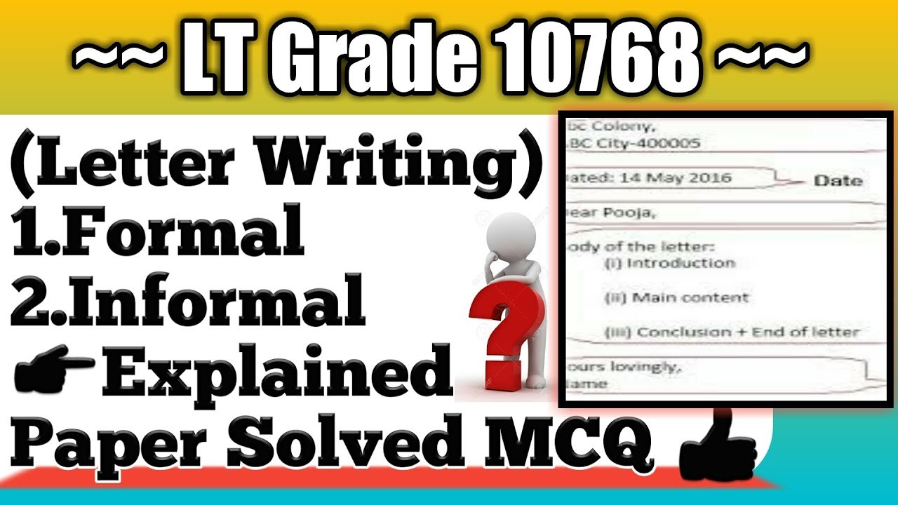 Writing Letter  Formal And Informal Letter Explained  Lt Grade