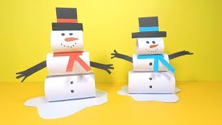 How to Make a Paper Snowman | Christmas Crafts for Kids