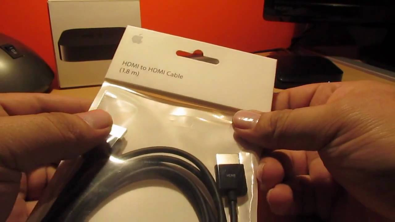 Do I Need A Special Hdmi Cable For Apple Tv: Apple HDMI Cable Unpacking For Apple TV 2 - YouTuberh:youtube.com,Design