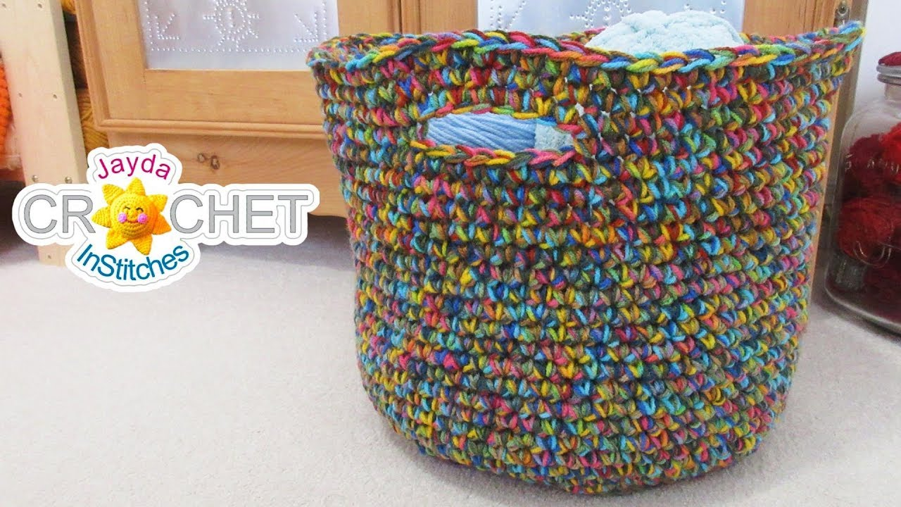 Big Beautiful Basket What To Do With Variegated Yarn Youtube