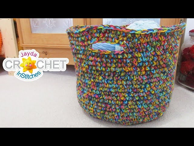 Big Beautiful Basket - What To Do With Variegated Yarn
