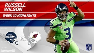 Russell Wilson Leads Seattle to Victory w/ 2 TDs! | Seahawks vs. Cardinals | Wk 10 Player Highlights