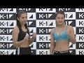 Kotomi vs. Mahiro - Weigh-in Face-Off - (K-1 WORLD GP 2019 JAPAN) - /r/WMMA