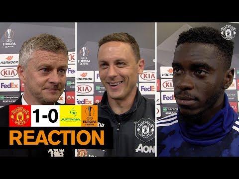 Solskjaer, Matic & Tuanzebe reflect on Manchester United win over Astana | Europa League