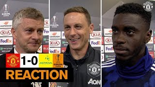 Solskjaer, Matic & Tuanzebe reflect on Manchester United win over Astana | Europa League